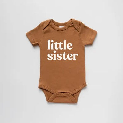 Organic Little Sister Short-Sleeved Baby Bodysuit