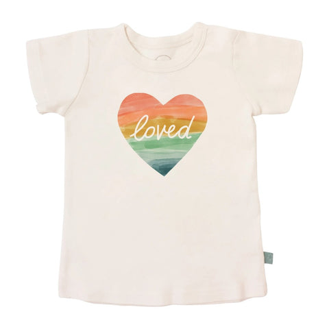 Loved Rainbow Heart Organic Toddler Tee