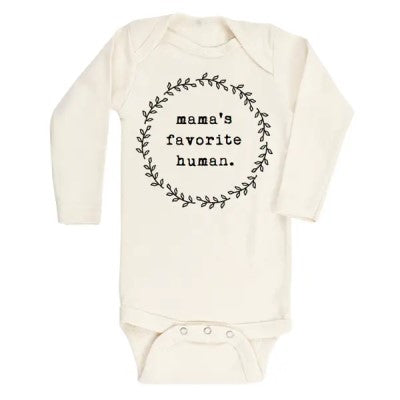 Organic Mama's Favorite Human Long-Sleeved Bodysuit