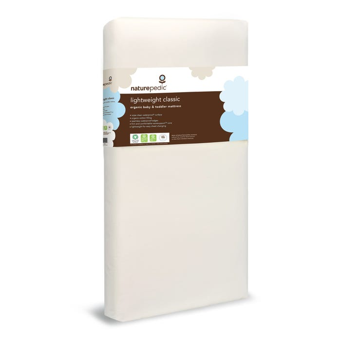 Organic Cotton Waterproof Classic Crib Mattress - Lightweight