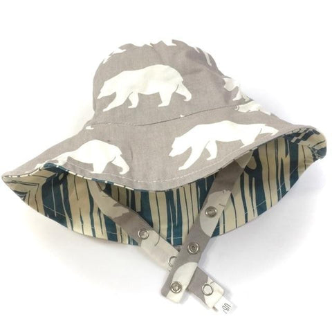 Organic Reversible Bucket Sun Hat - Grizzly