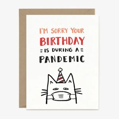 Pandemic Birthday Cat Card