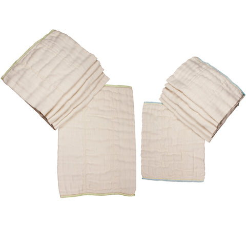 Cloth Prefold Diapers Unbleached Each