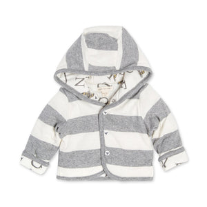 A Bee C Reversible Organic Puffy Snap Front Jacket