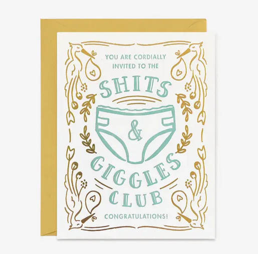 Shits and Giggles Club New Baby Card