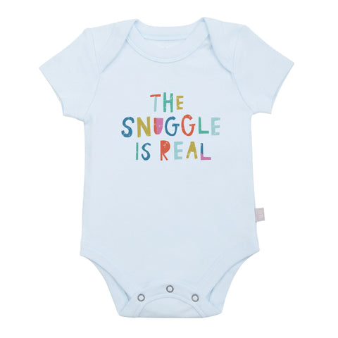 The Snuggle is Real Organic Graphic Bodysuit