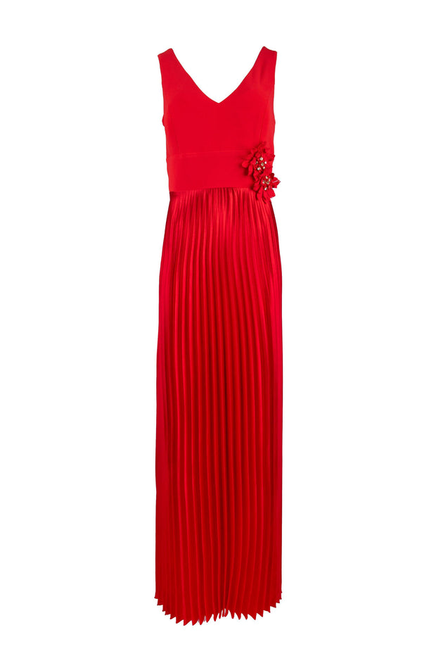 Formal pleated maxi dress