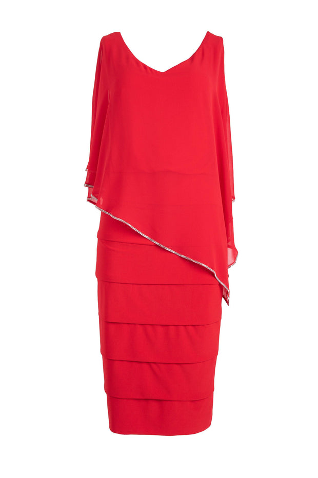 Formal red midi dress