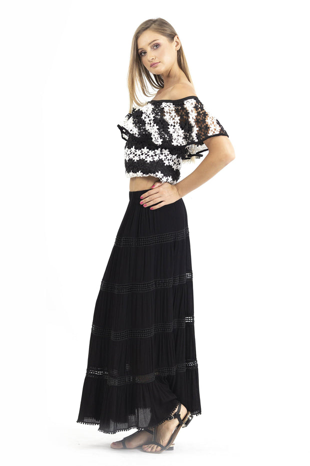 LACED LONG LENGHT SKIRT