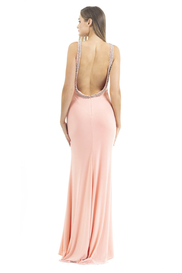 Halter maxi sleeveless dress