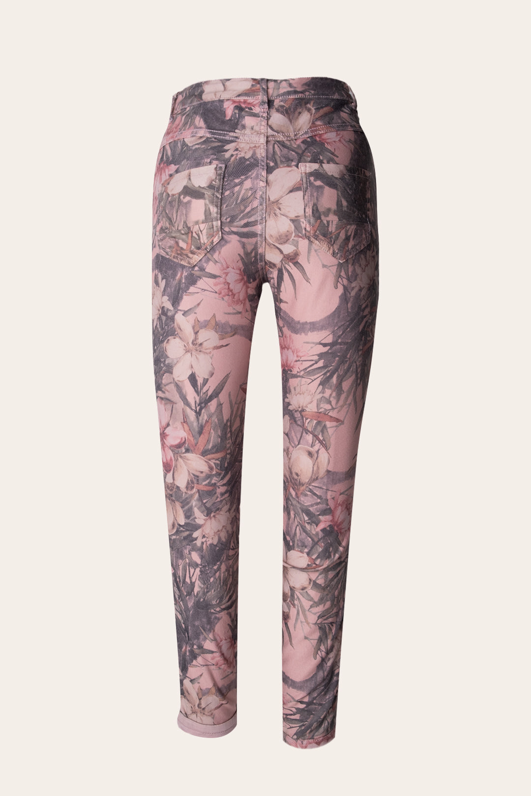 Double-Face Floral Pattern Jeans