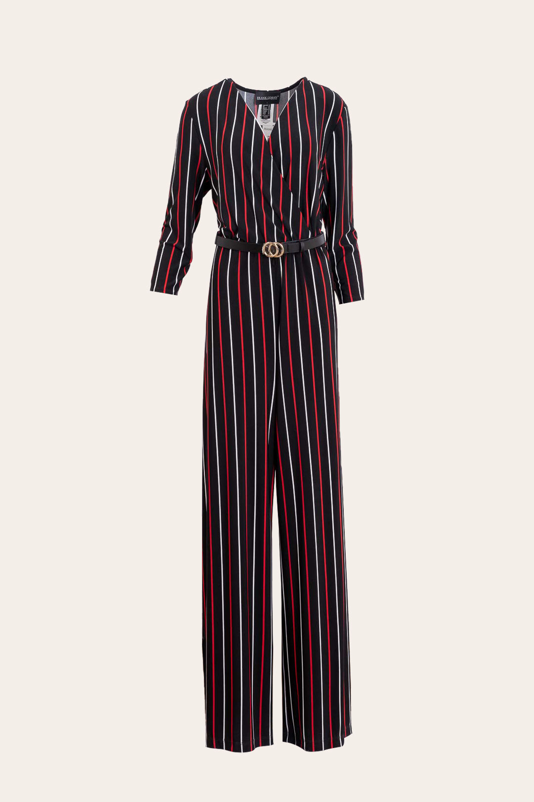 Half Sleeves Striped Print Jumpsuit
