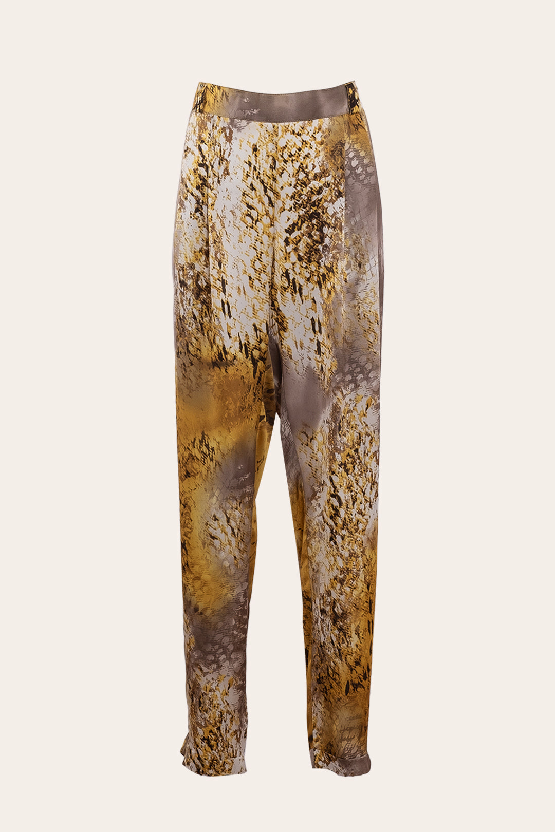 Tiger Print Satin Pants