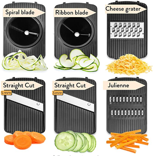 Coltis™ - Premium Mandoline Slicer 6-in-1 Vegetable Slicer with Julienne Grater and BONUS 2 Adjustable Water Resistant Aprons