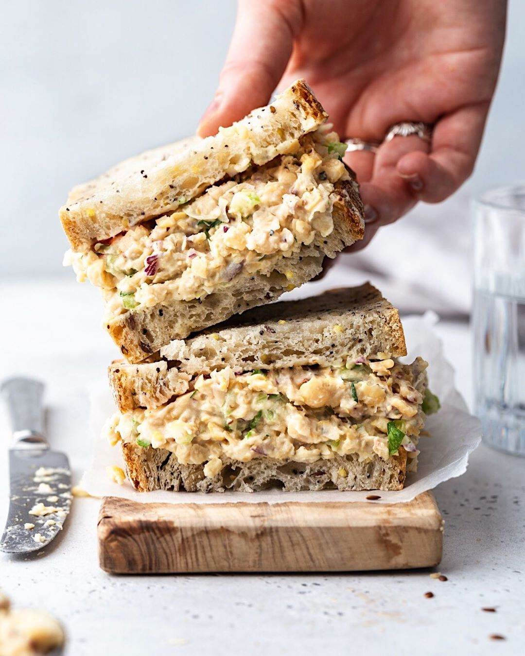 Chickpea Tempeh Tuna with Aquafaba Mayonnaise