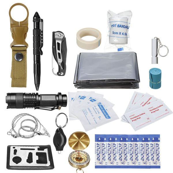 30 in 1 SOS Emergency Camping Survival First Aid Kit Outdoor Gear Tactical Tool Box
