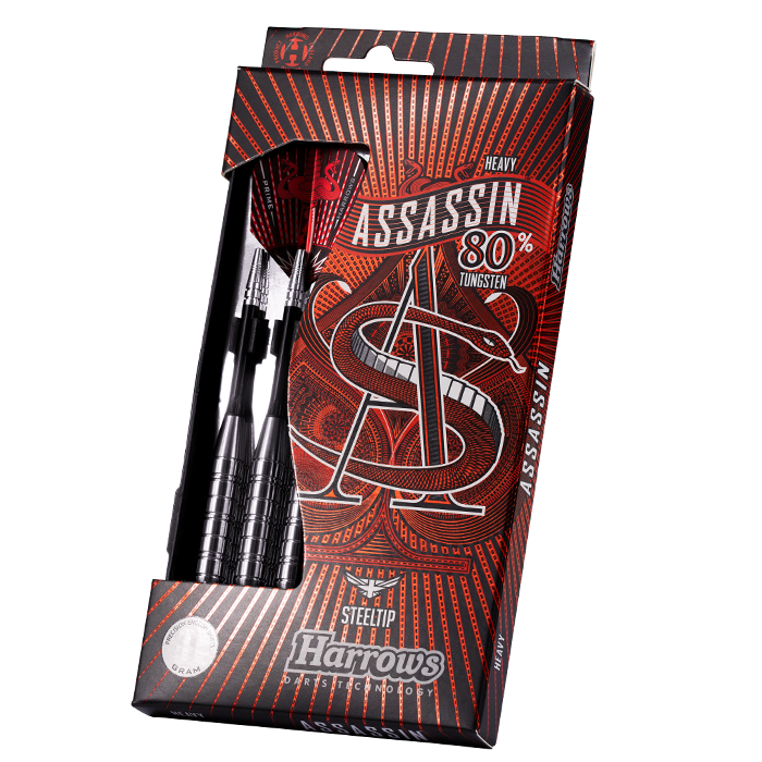 ASSASSIN 80% Tungsten Darts Set - Heavy