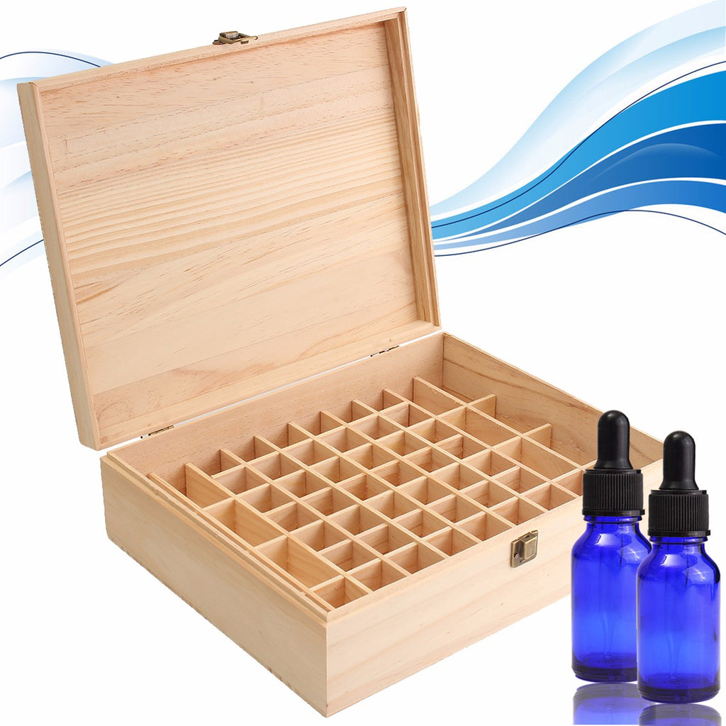 68 Slot Essential Oil Wooden Box Organizer