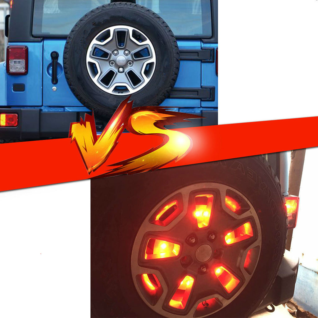 Car Spare Tire Led Brake Light Tail Lamp For Jeep Wrangler JK