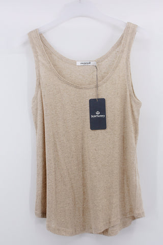 Basic Top meliert, beige