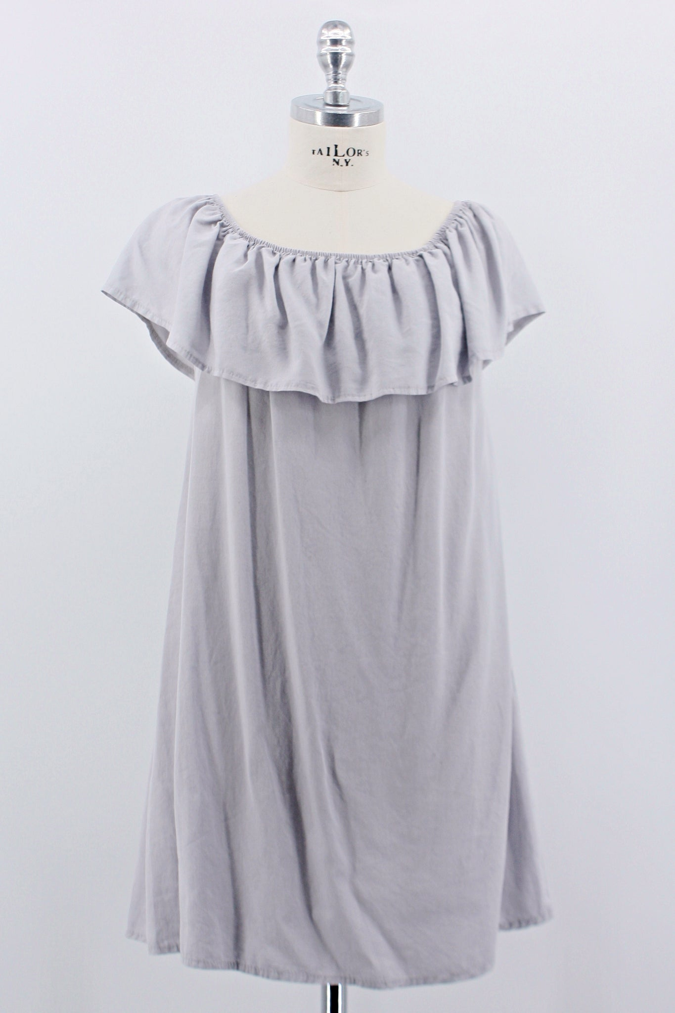 "Bluse ""Off Shoulder"" grau"