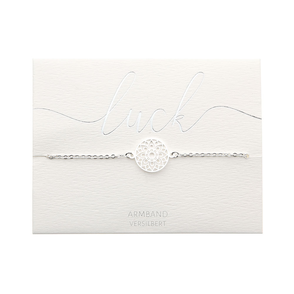HCA Crystals Armband Love luck silber