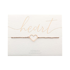 HCA Crystals Armband Love heart rose