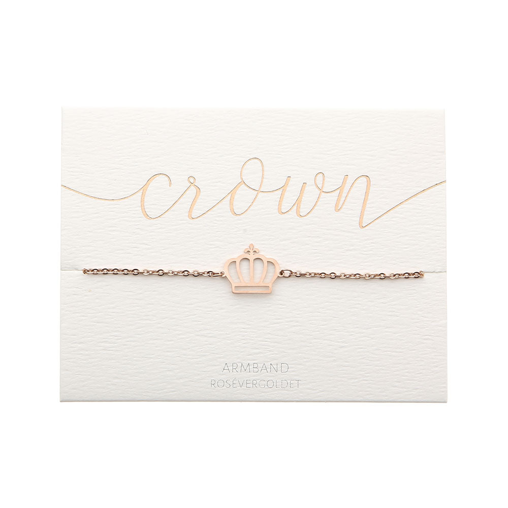 Armband Love crown rose