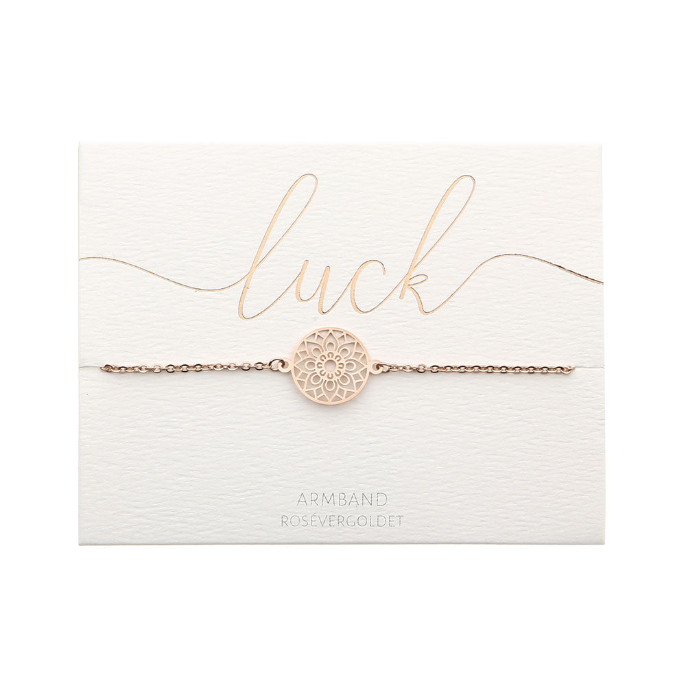HCA Crystals Armband Love luck rose