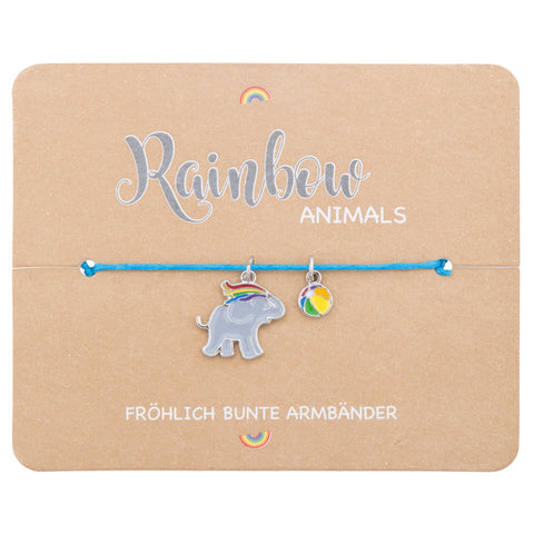 Kinder Armband Rainbow Elefant