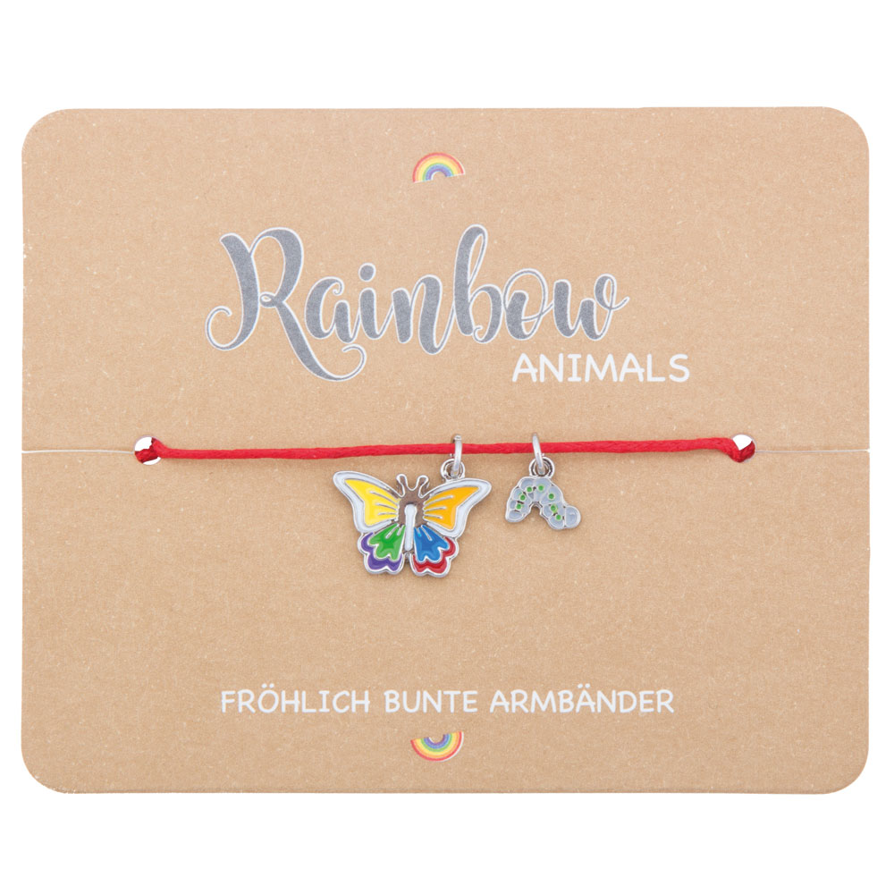 Kinder Armband Rainbow Schmetterling