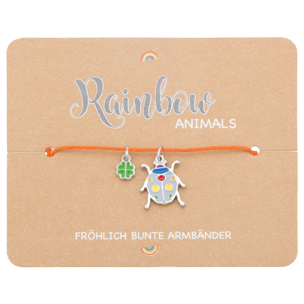 Kinder Armband Rainbow Marienäfer