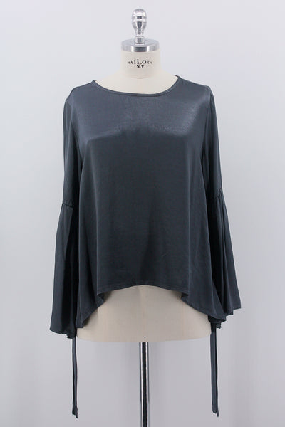 "Bluse ""Anthrazit Metallic"""