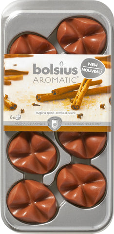 Bolsius Wax Melts, Zucker & Zimt