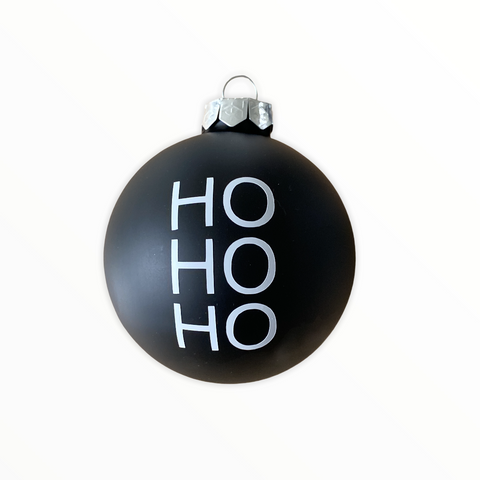 "Christmas Ball ""Ho Ho Ho"" 8cm"