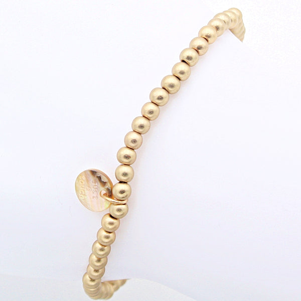 "Perlenarmband ""Perletti"" 4mm gold matt"