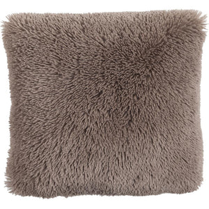 "Kissen ""Fluffy"" 45x45cm taupe"