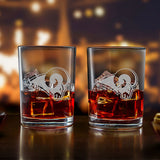 NFL Rocks Glass Set