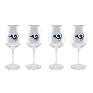 Plastic Stemmed NFL Wine Glass - 4 Pack