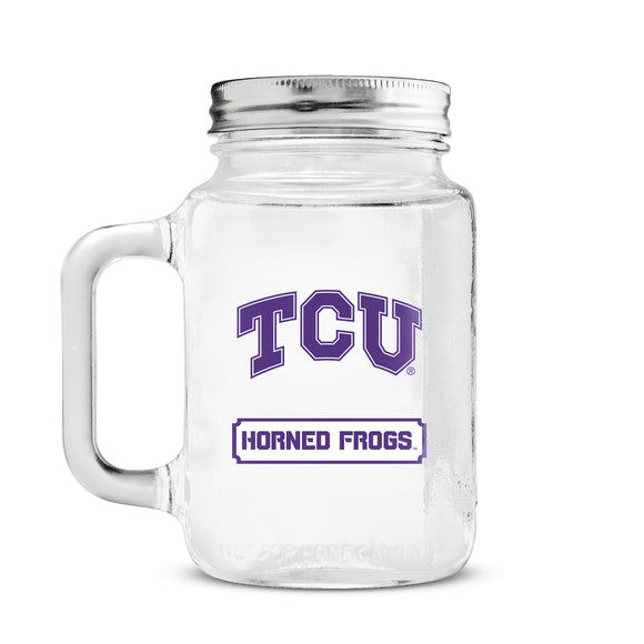 Official NCAA Glass Mason Jar