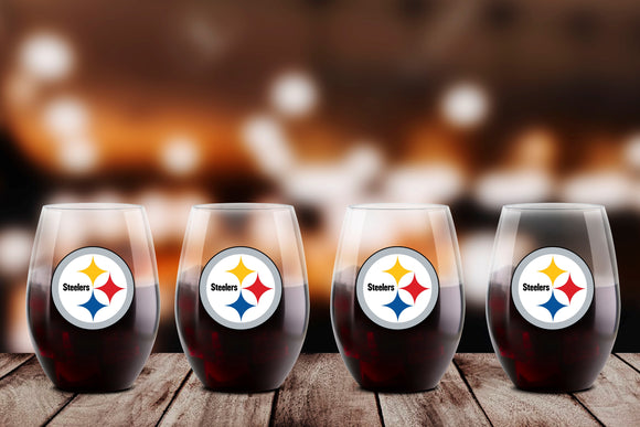 NFL Plastic Stemmed NFL Wine Glass - 4 Pack
