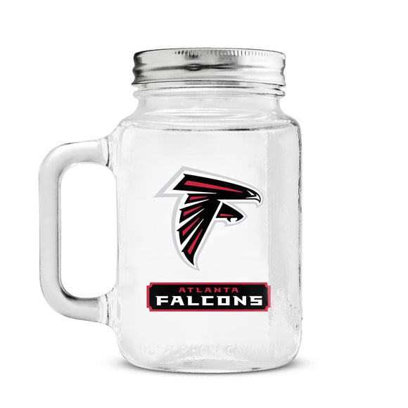 Official NFL Glass Mason Jar
