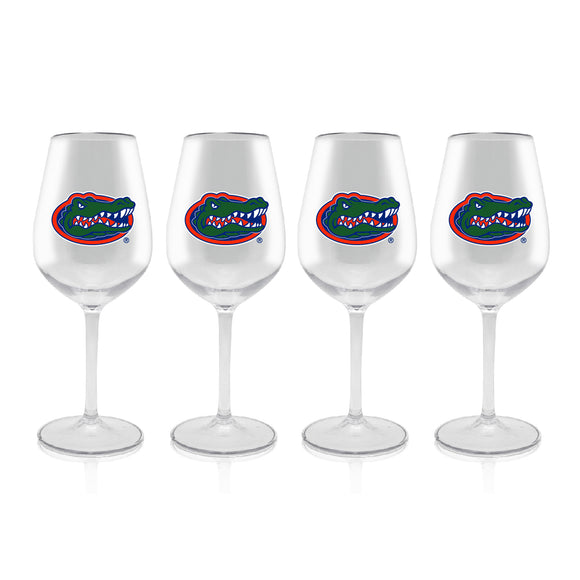 Official NCAA Plastic Stemmed Wine Glass 4 Pack