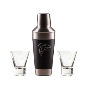 Official NFL Ice Shaker and Martini Glass Set