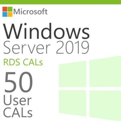 Windows Server 2019 50 RDS User CALs