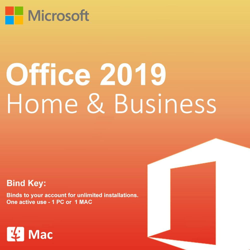Microsoft Office 2019 Home and Business For Mac BIND Product Key License