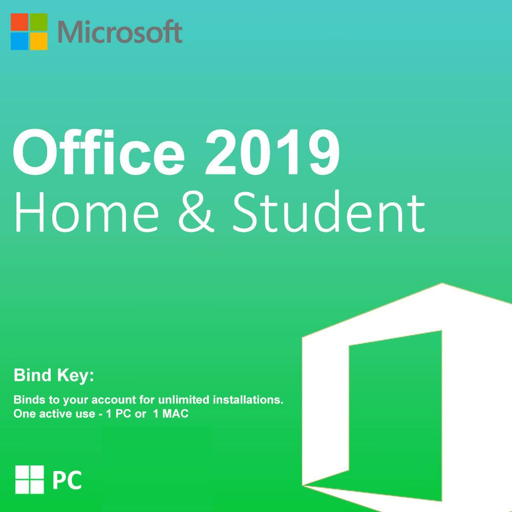 Microsoft Office Home & Student 2019  1 - PC ONLY - Digital License product key