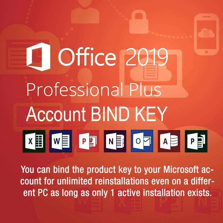 Microsoft Office Professional Plus 2019 Product Key License BIND Retail