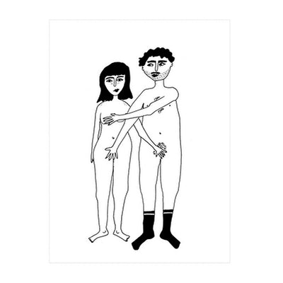 "Affiche ""Naked couple"" - A4"