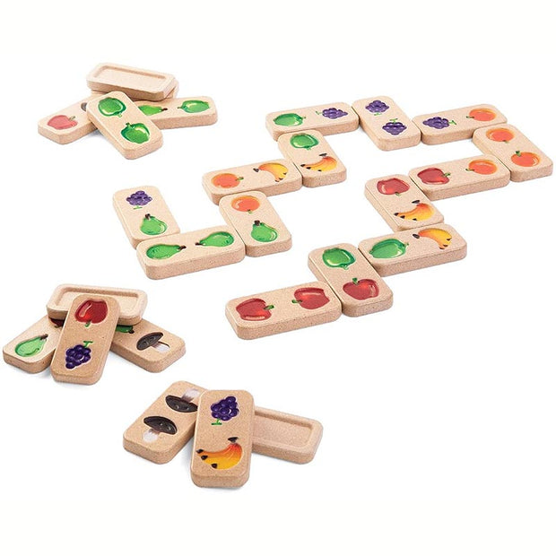 PLAN TOYS - Dominos en bois Fruits & Légumes